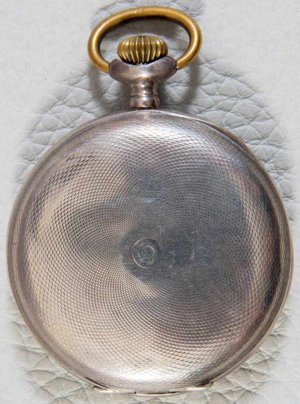 """""""HEBDOMAS - 8 JOURS"""" - SAVONETTE Herrentaschenuhr in 800er Silber, Porzellanziffernblatt mit arab. - Image 7 of 7"""