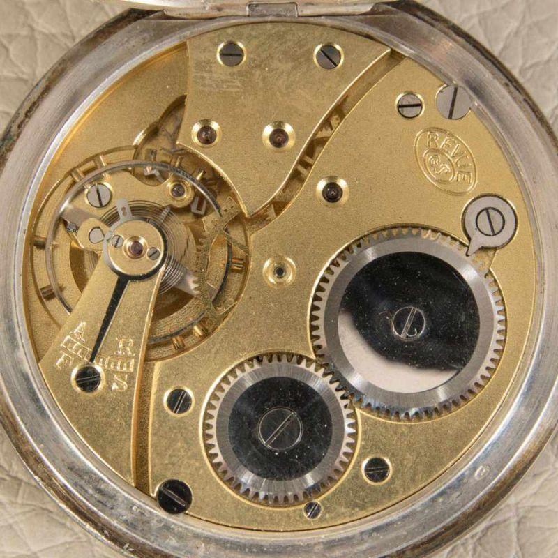 """2 alte/antike Taschenuhren, Silber, 1 x bez.: """"Hermann Krüsken - Aachen."""" Werke nicht auf - Image 5 of 17"""