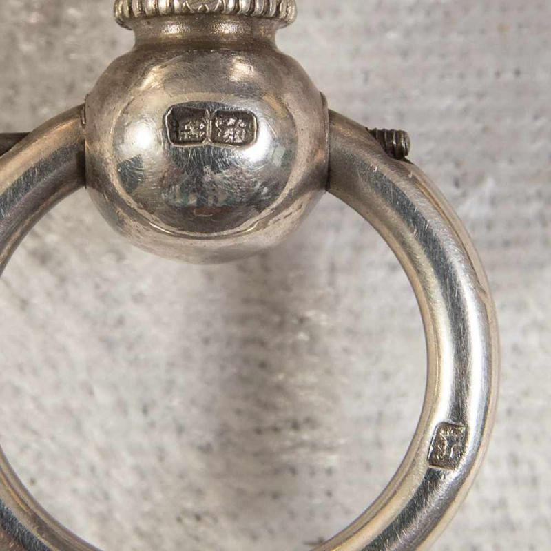"""""""English Lever Chronograph"""", Gehäuse in 925er Sterlingsilber, Werk & Gehäuse nummerngleich (No. - Image 11 of 12"""