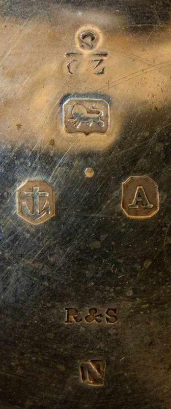 Antike, englische Spindeltaschenuhr, Gehäusedurchmesser ca. 52 mm, Gehäuse & Übergehäuse in 925er - Image 8 of 10