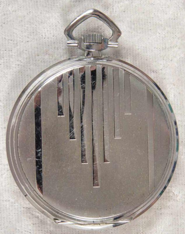 Zentra Halbsavonette Herrentaschenuhr, vernickeltes Gehäuse, Durchmesser ca. 50 mm, Werk ohne - Image 7 of 7
