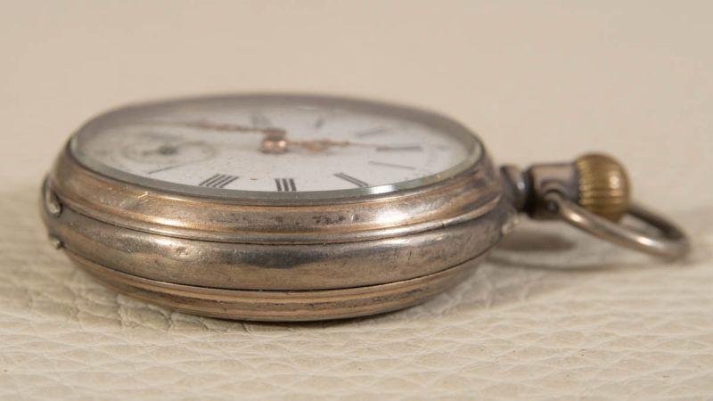 """2 alte/antike Taschenuhren, Silber, 1 x bez.: """"Hermann Krüsken - Aachen."""" Werke nicht auf - Image 13 of 17"""