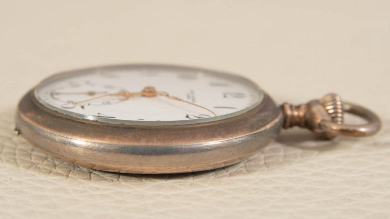 """2 alte/antike Taschenuhren, Silber, 1 x bez.: """"Hermann Krüsken - Aachen."""" Werke nicht auf - Image 8 of 17"""
