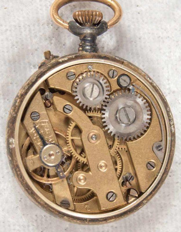 2 alte/antike Damen-Schmucktaschenuhren, ungeprüft, 1 x mit transluzidem Emaille-Dekor. - Image 10 of 13
