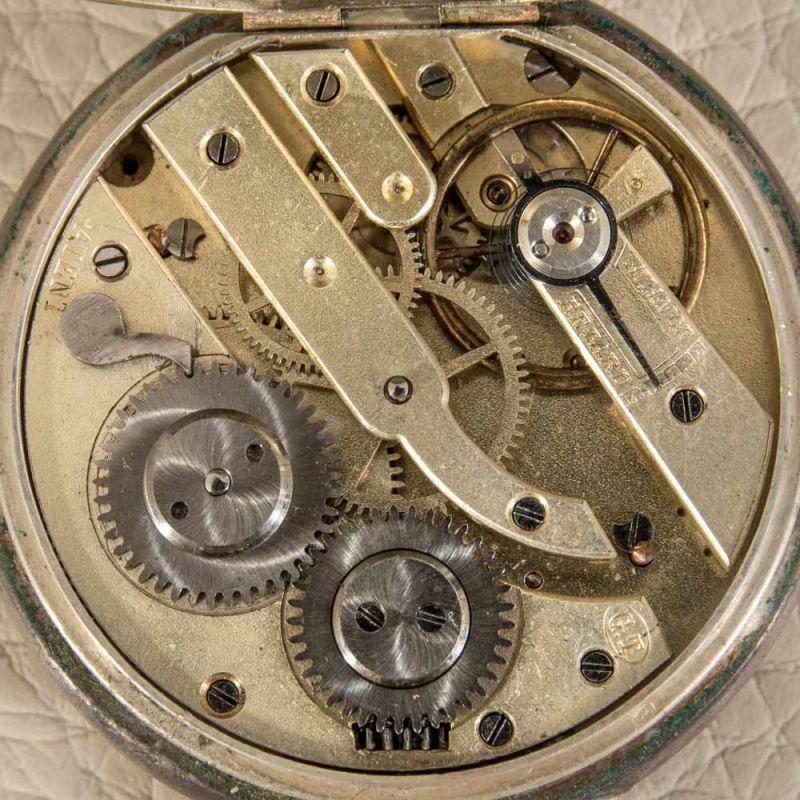 """2 alte/antike Taschenuhren, Silber, 1 x bez.: """"Hermann Krüsken - Aachen."""" Werke nicht auf - Image 12 of 17"""