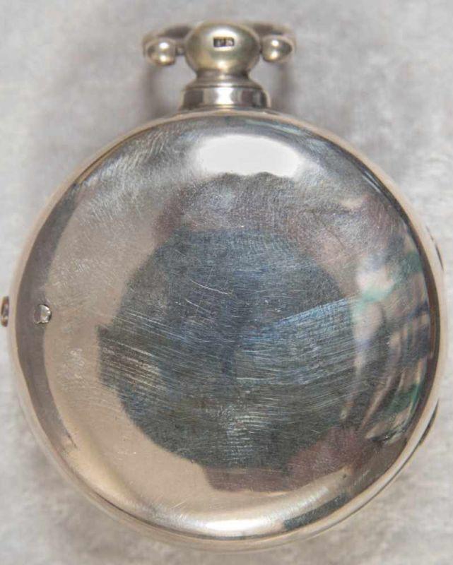 """Spindeltaschenuhr des """"JOHN ROBERTS - LONDON"""" - No. 22251. Gehäuse & Übergehäuse in Silber, weiß - Image 3 of 11"""