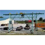 Industrial 3-Ton Rolling Gantry Crane (27' Long x 10' Wide) (1 x Your Bid)