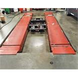 Hunter RX-9-L (9,000#) Scissor Alignment Lift w/ (2) 4,500# Swing-Jacks & Turnplates (1 x Your Bid)