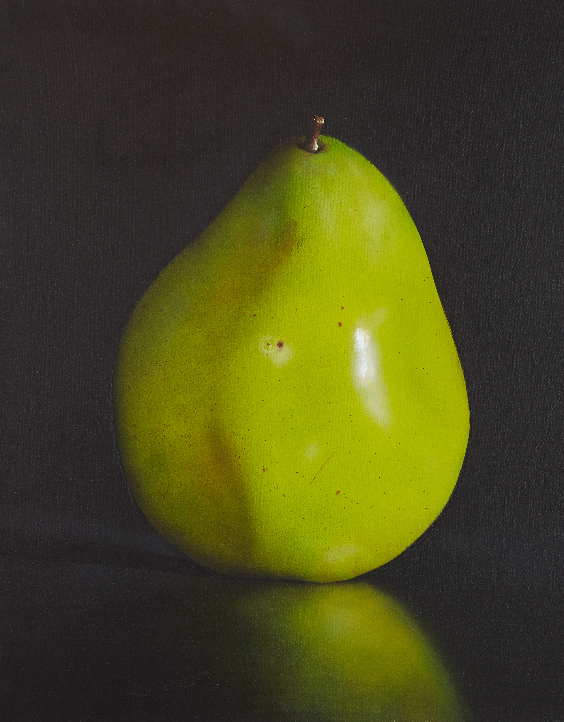 Lot 29 - Tom Seghi Green Pear Painting