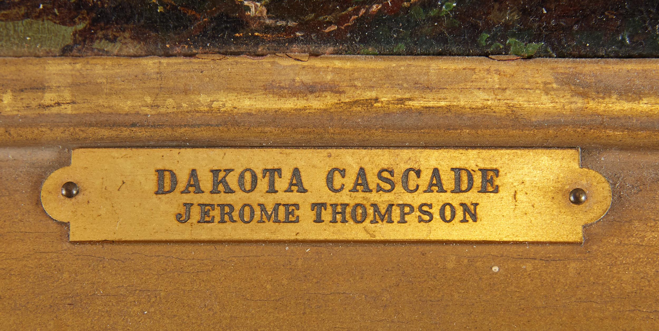 Lot 20 - Jerome B. Thompson Dakota Cascade Oil on Panel Painting