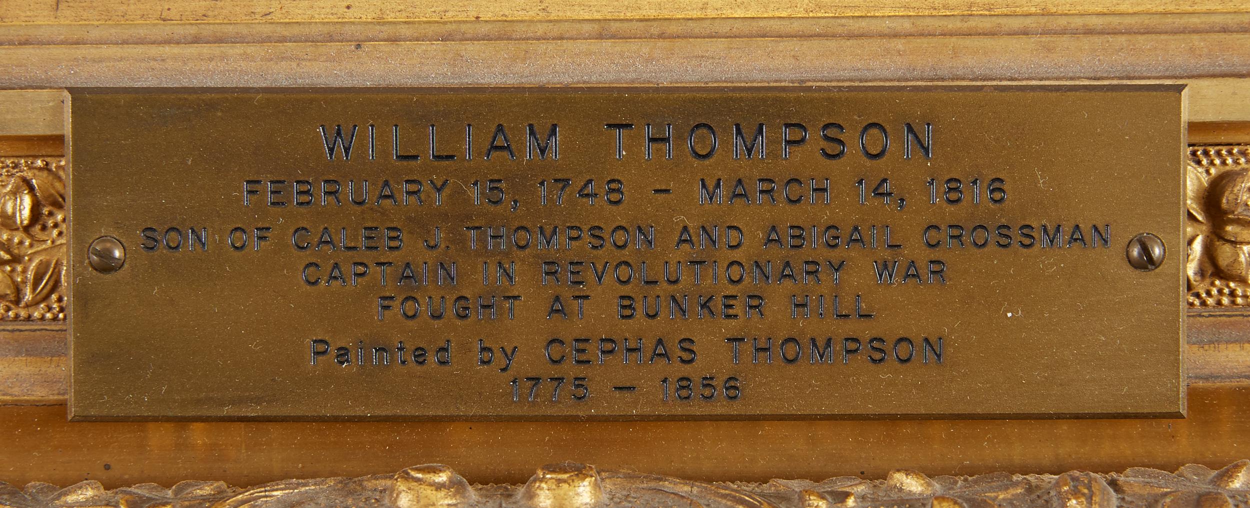 Lot 11 - Cephas Thompson Portrait of William Thompson