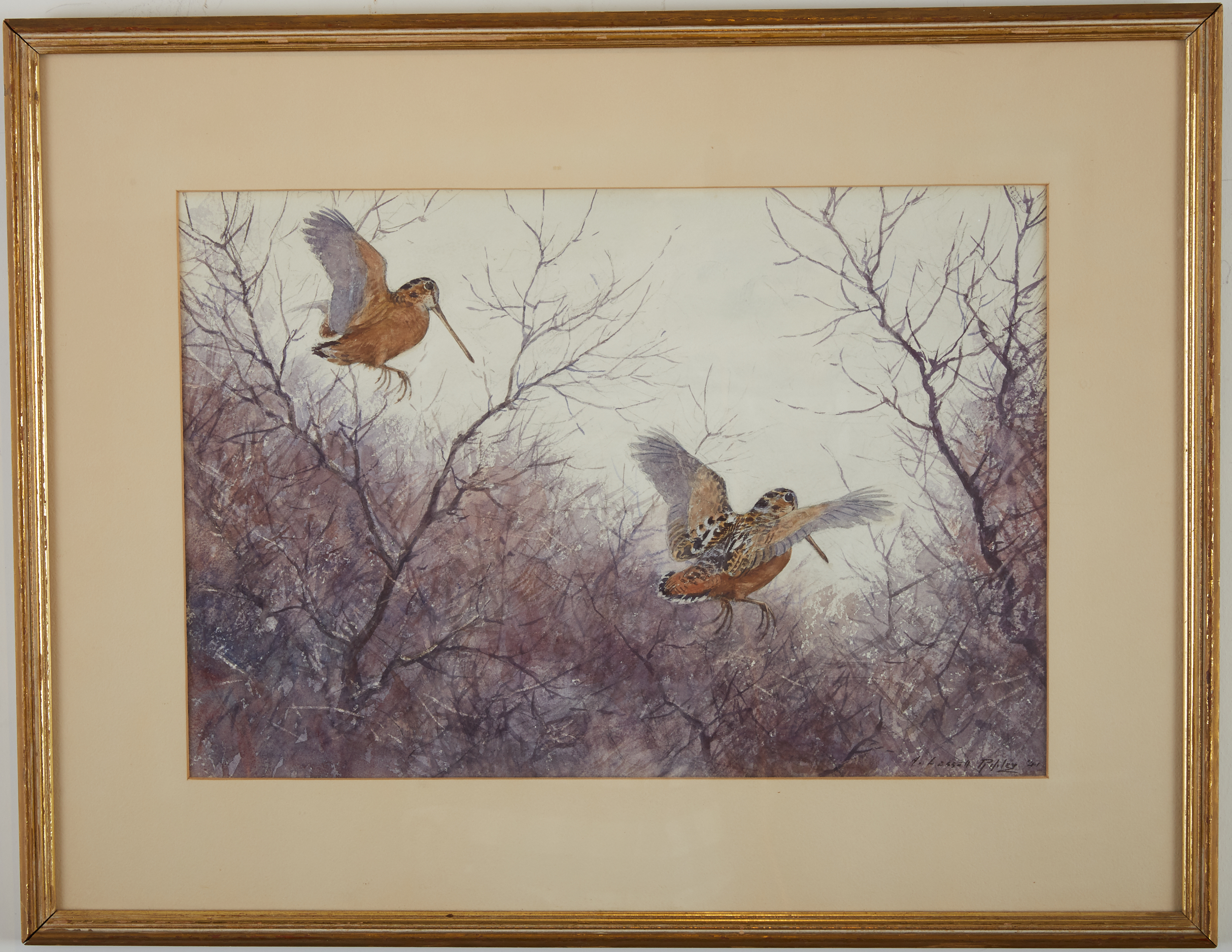 Lot 25 - Aiden Lassell Ripley Watercolor Painting of Woodcocks