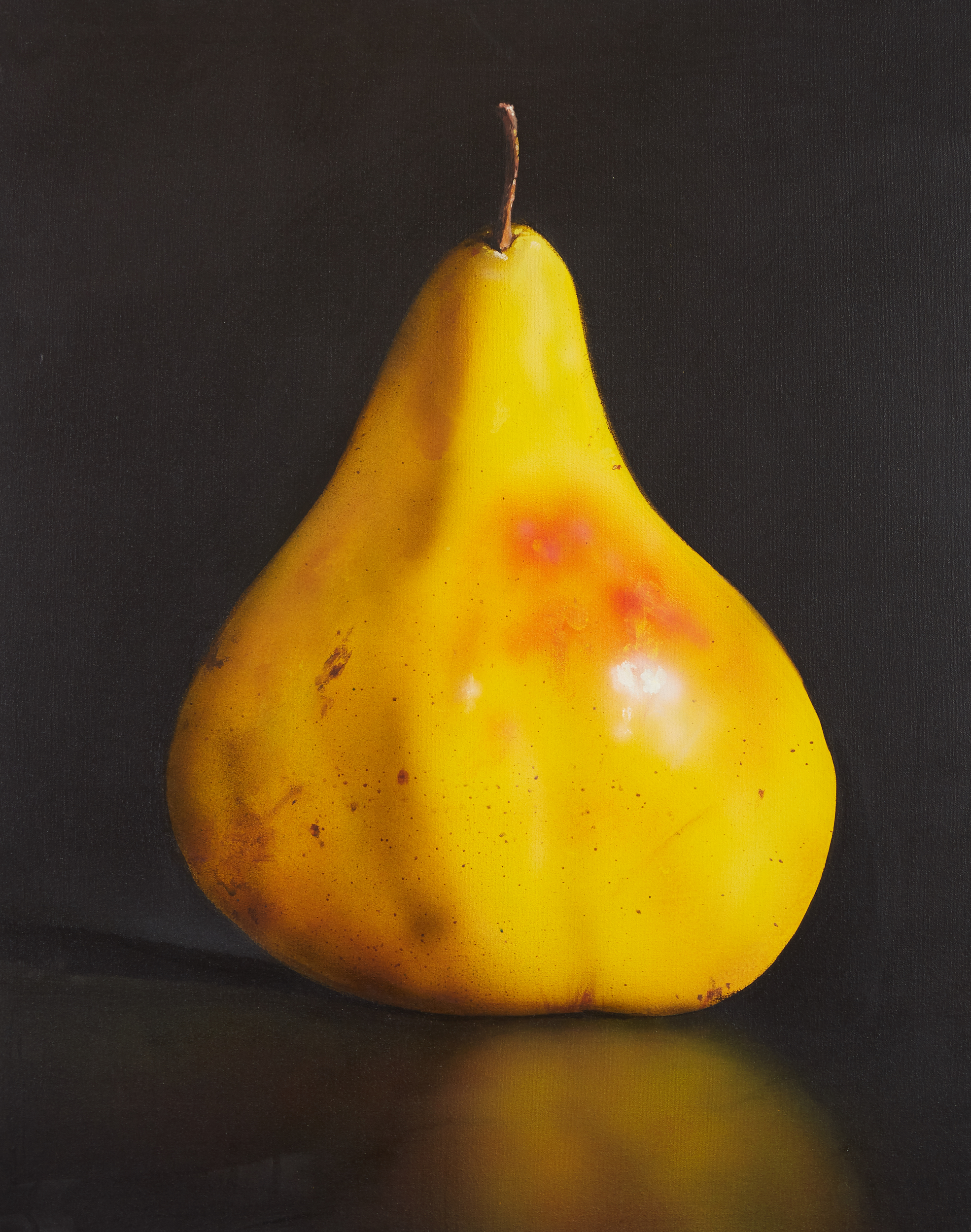 Los 30 - Tom Seghi (1942-2011). Oil on canvas depicting a yellow pear. Signed and dated '96 along the...