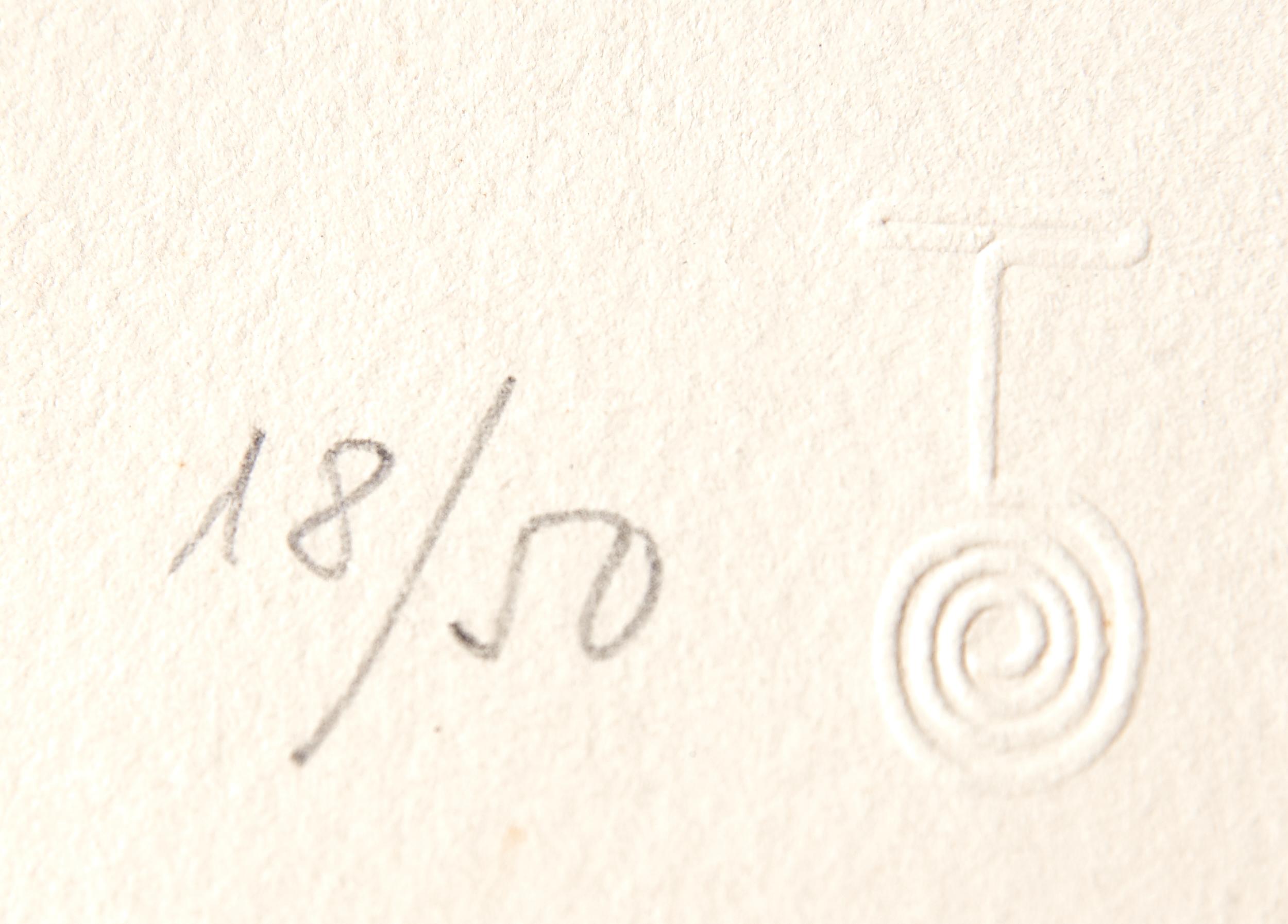 Lot 57 - Joan Miro Espriu Aquatint Etching on Paper D.870