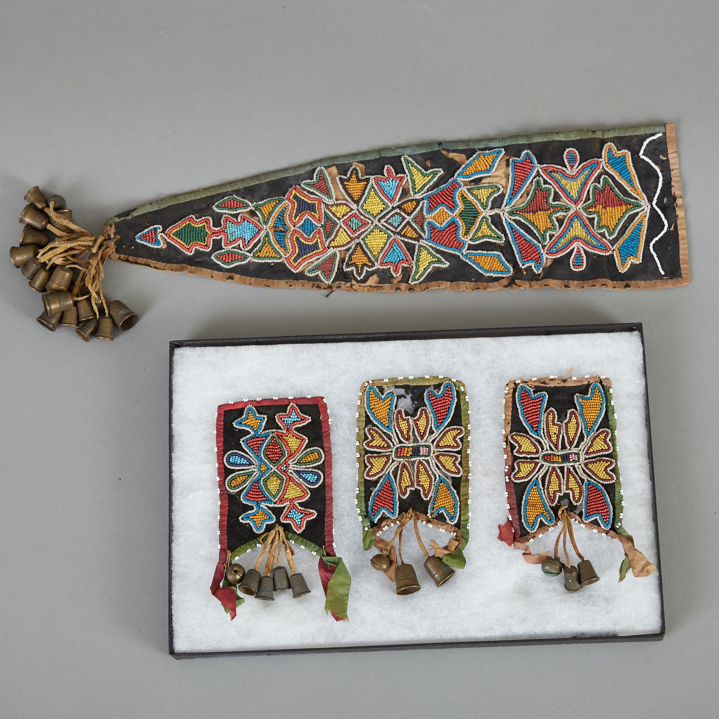 Lot 238 - Ojibwe or Potawatomi Otter Pelt Medicine Bag Remnants