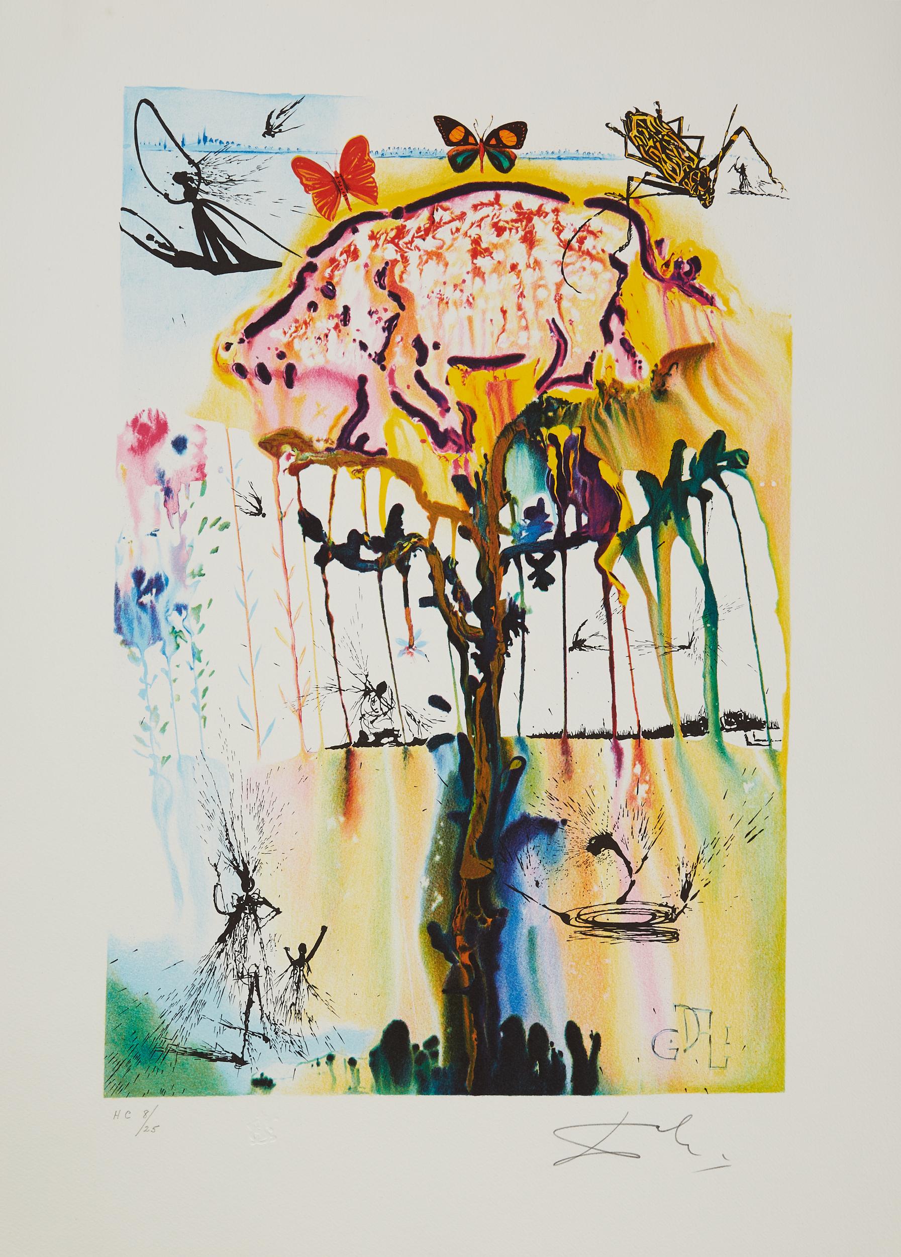 Lot 48 - 4 After Salvador Dali Alice in Wonderland Color Lithographs