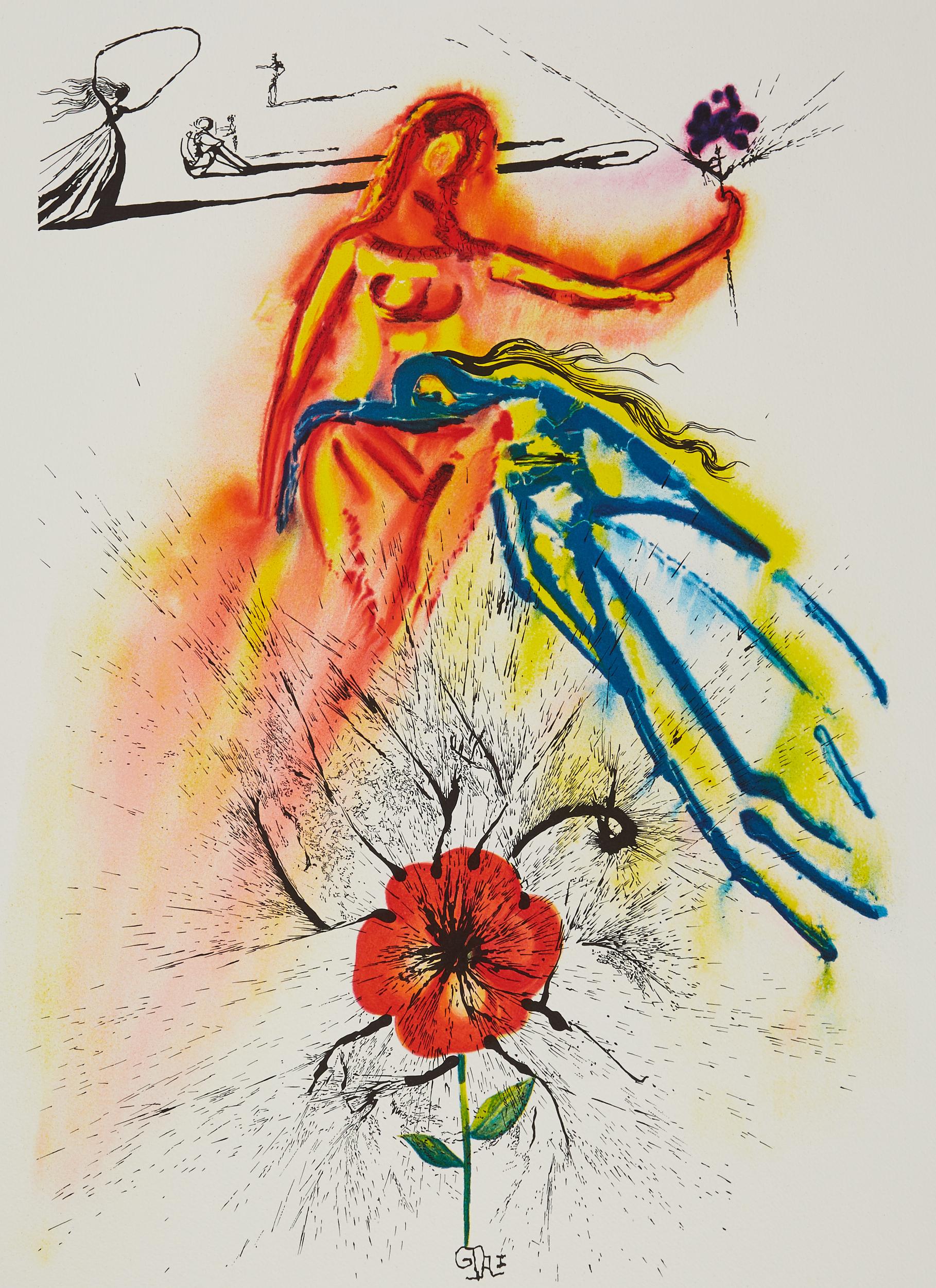 Lot 49 - 4 After Salvador Dali Alice in Wonderland Color Lithographs