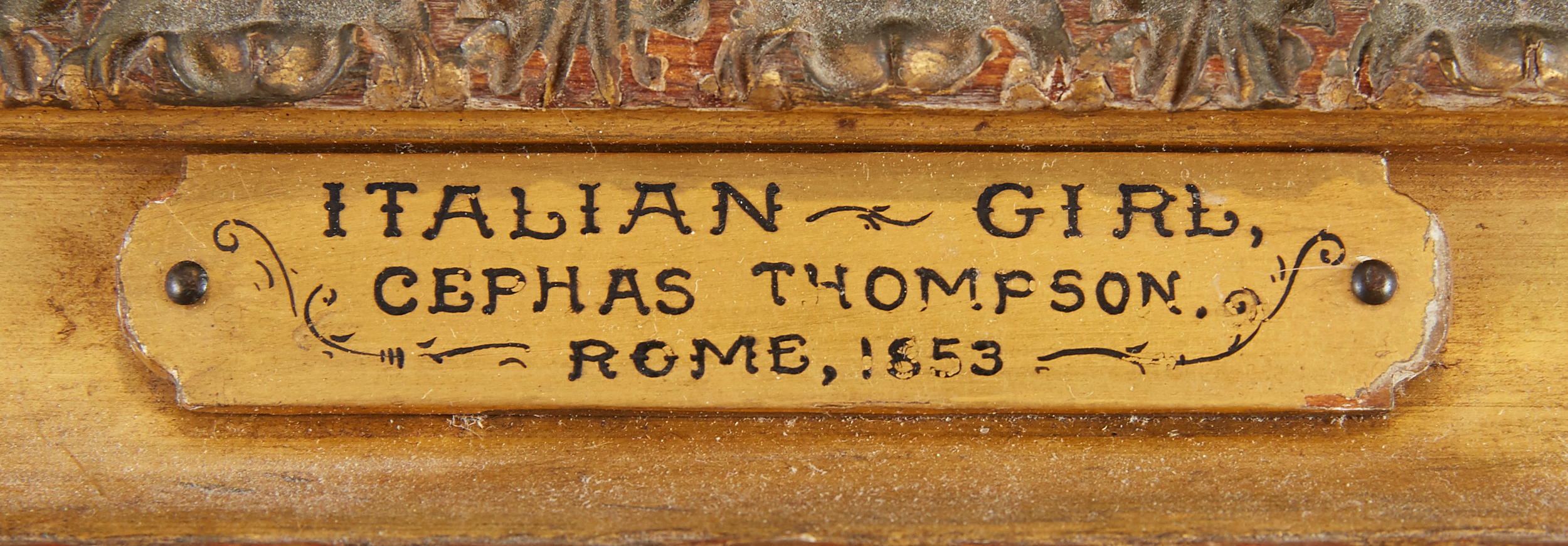 Lot 6 - Cephas Giovanni Thompson Italian Girl Oil on Canvas Laid Board