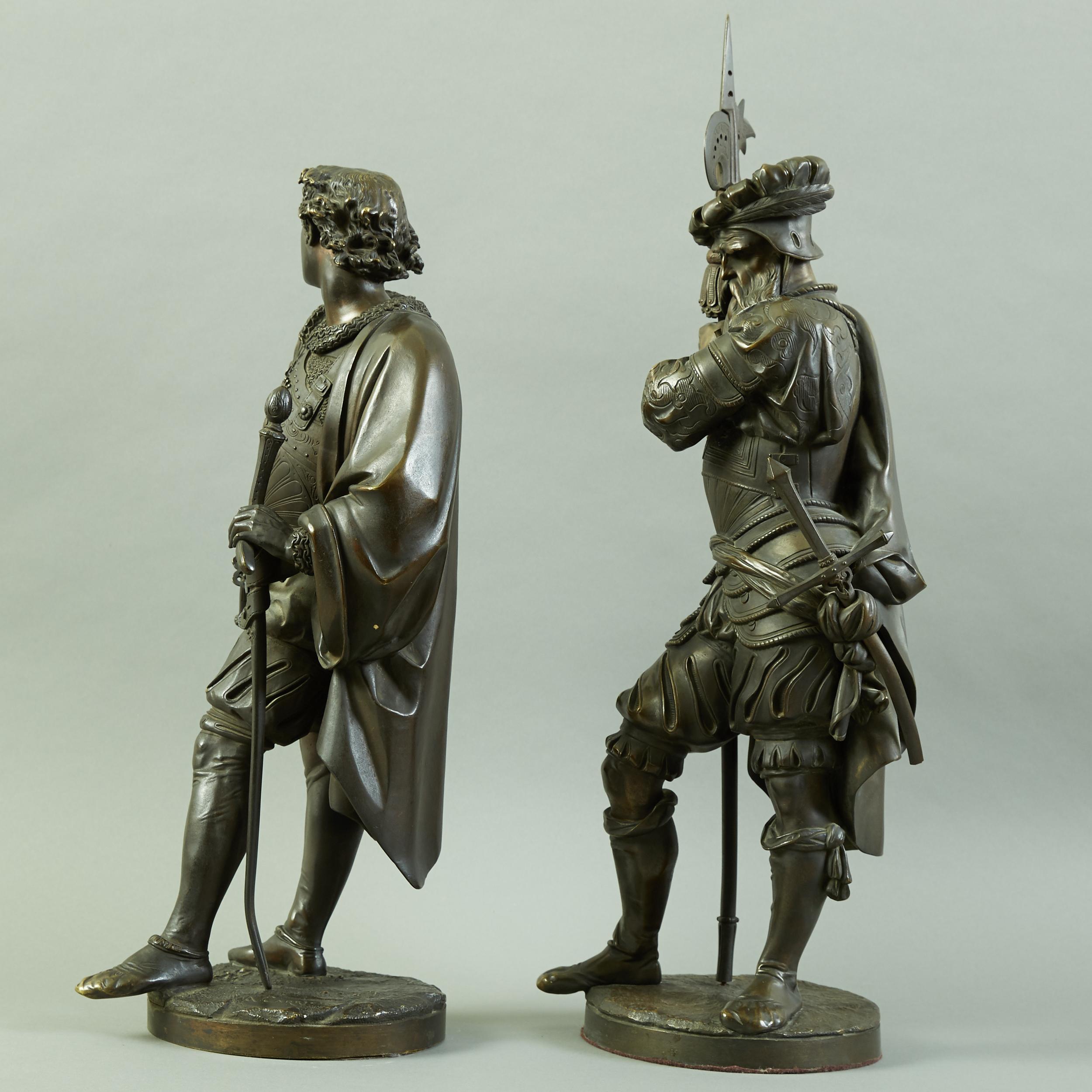 Lot 80 - Pair of Large Auguste Carrier Bronze Sculptures