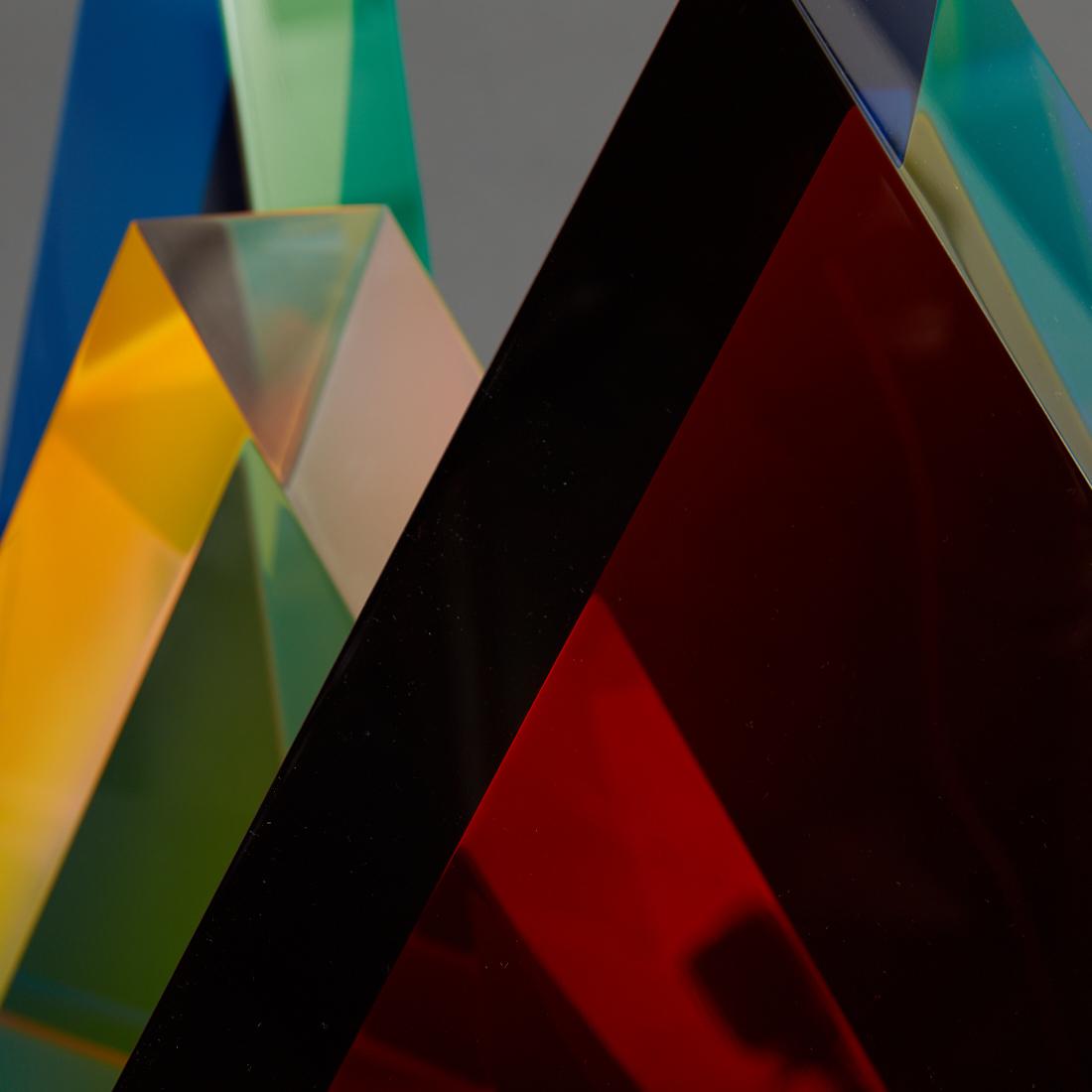 Lot 86 - Velizar Mihich VASA 3 Acrylic Triangles