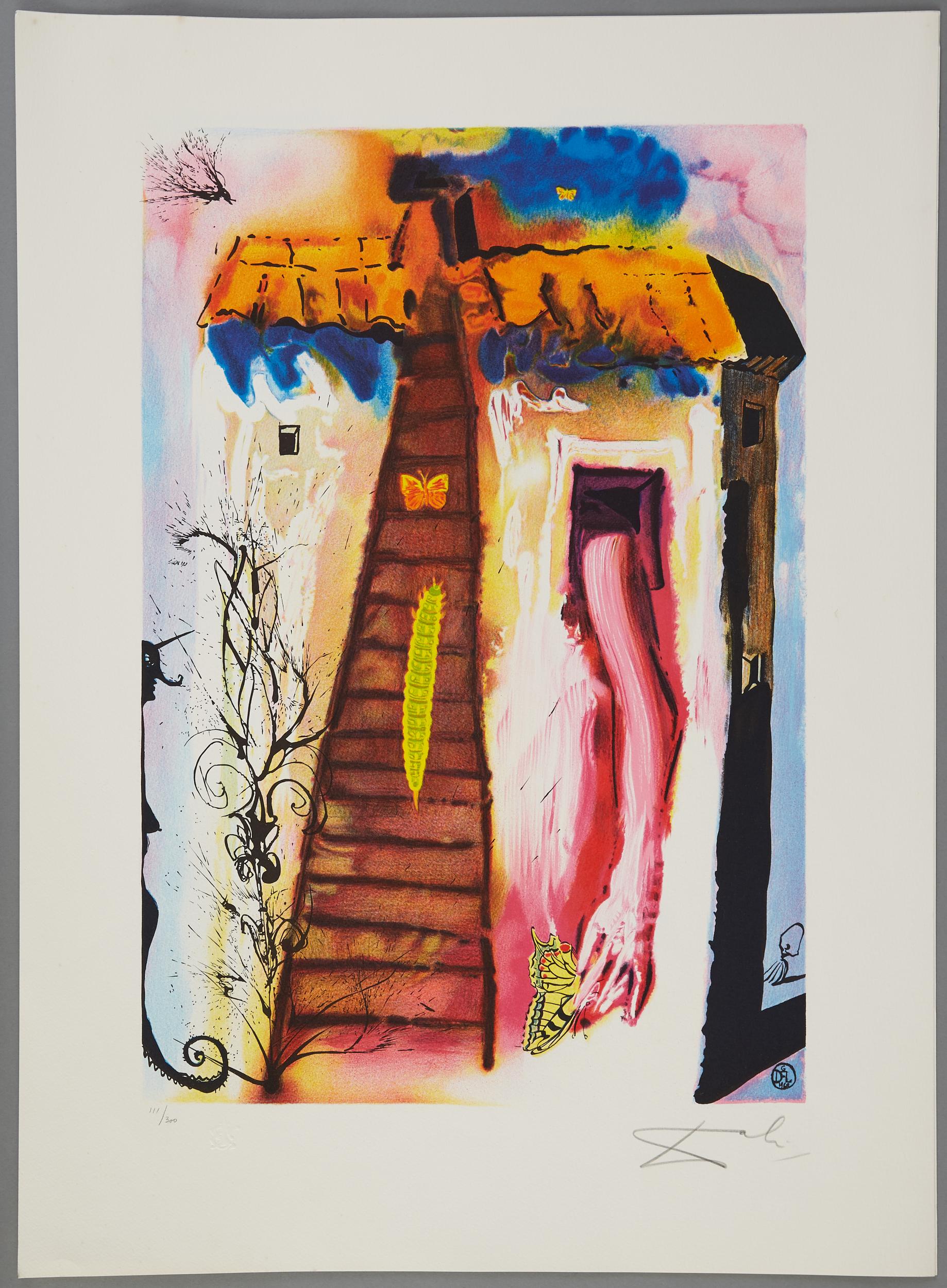 Lot 47 - 4 After Salvador Dali Alice in Wonderland Lithographs