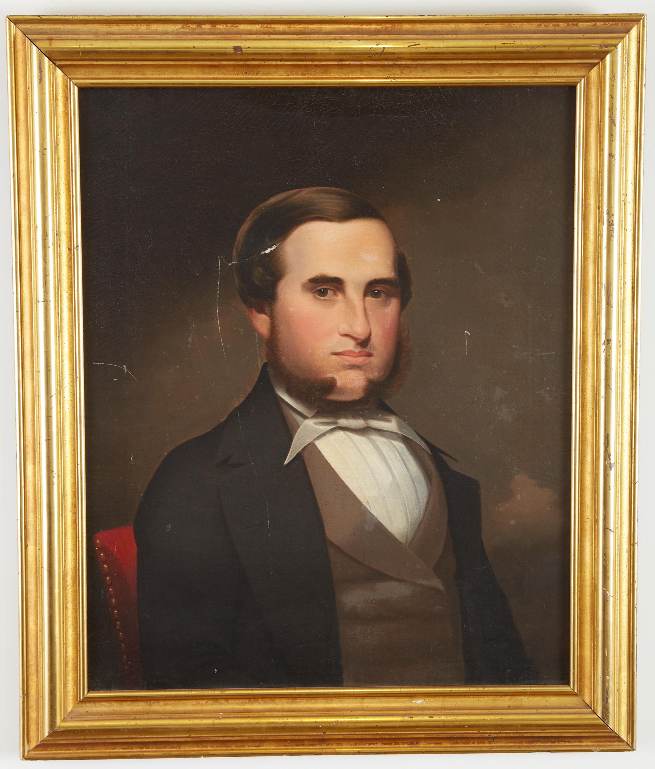 Los 7 - Cephas Thompson (1775-1856). Oil on canvas portrait of Julius Thompson (1824-1900), the painter's...