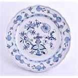 Large meat plate city of Meissen