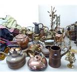 19thC and later metalware: to include kettles,