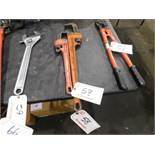 """(2) RIDGID 18"""" & 24"""" PIPE WRENCHES"""