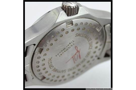 """Tag heuer, 39mm """"link calibre 6 tiger woods limited edition"""" ref."""