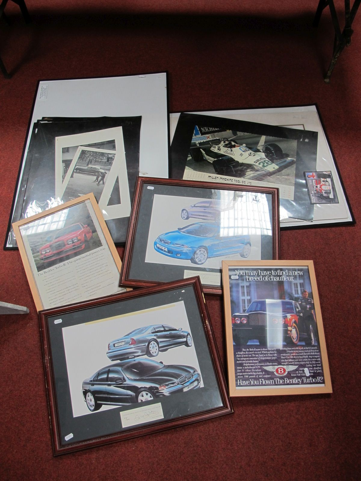 Lot 54 - Two limited Edition Prints, of original Rover 200 and 400 Rover cars, both signed by director of