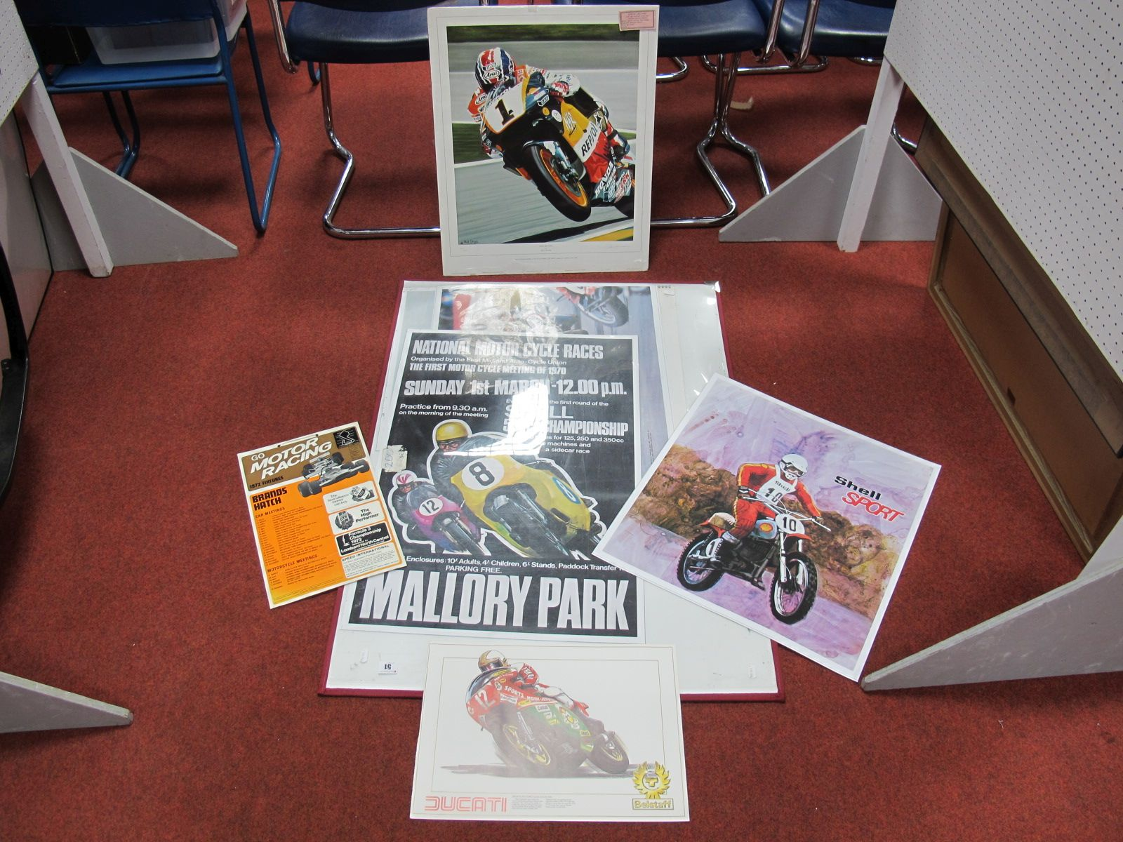 Lot 51 - A Quantity of Motorbike Racing Related Prints/ Posters, and associated items.