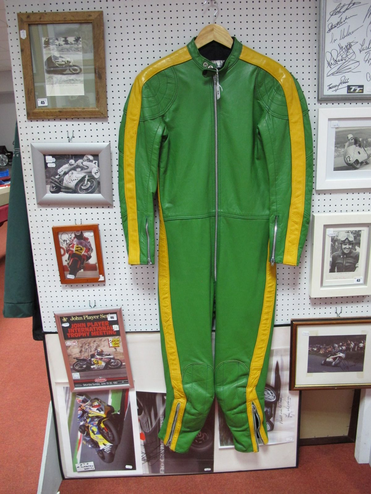 Lot 44 - Barely Used Circa 1970 One Piece Motor Bike Racing Leathers, by Reg Cross Racing Cloth of Louth,