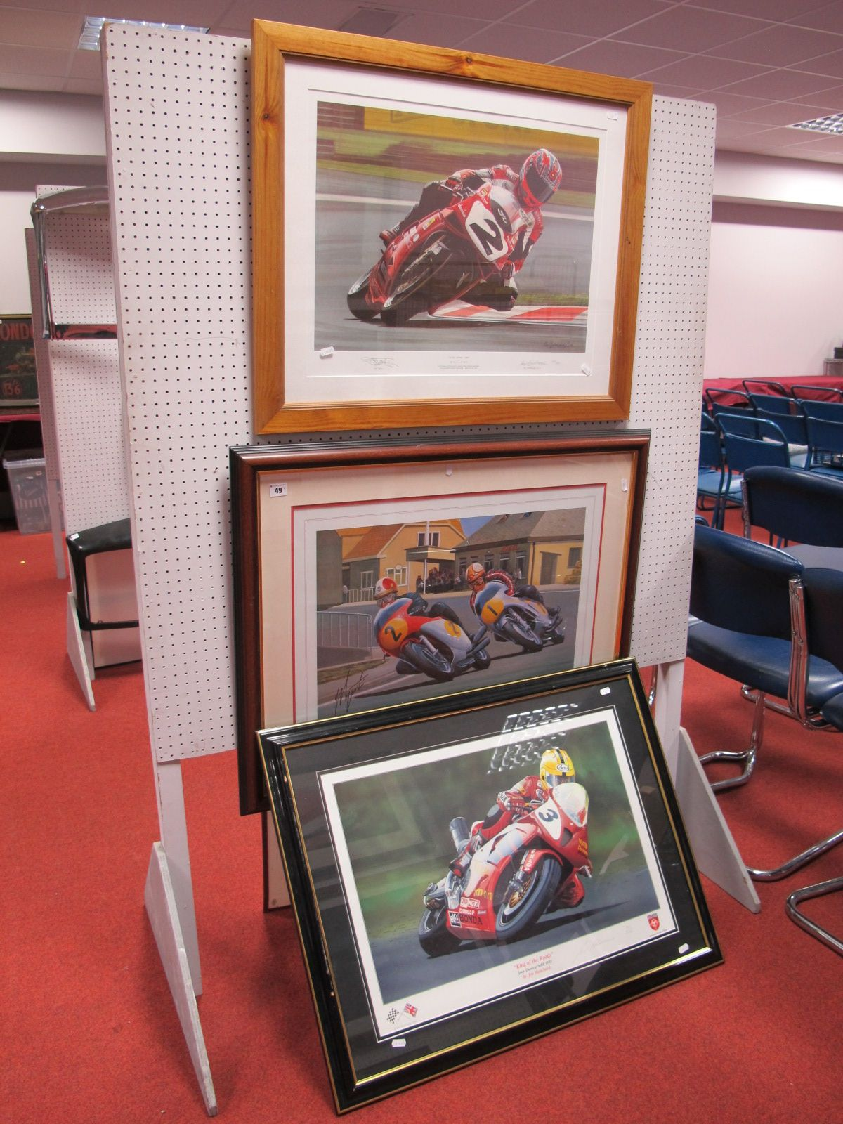 Lot 49 - Three Motorbike Racing Prints, after Jim Blachard- 'King of The Roads'/ after Rod Organ, 'The Big