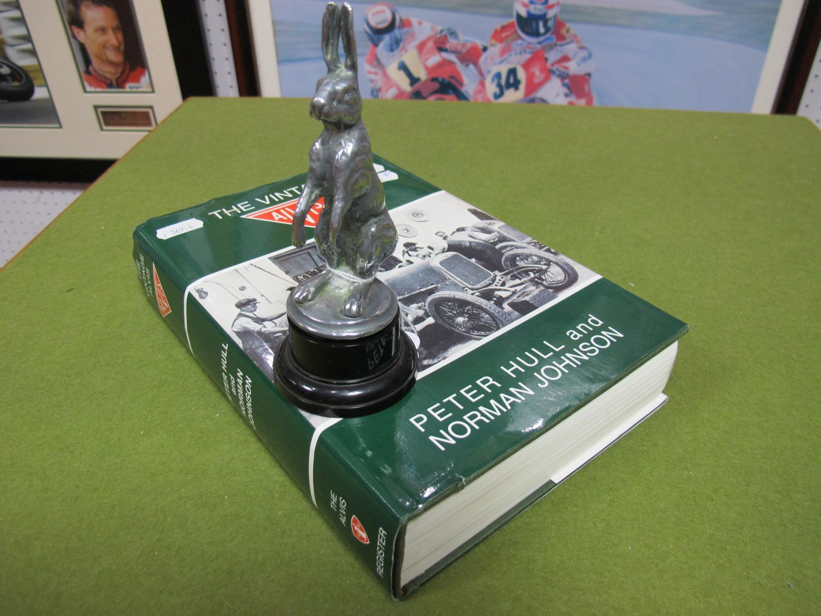 Lot 38 - An Alvis Hare Mascot, chromed mounted; plus book 'The Vintage Alvis' by Peter Hull and Norman
