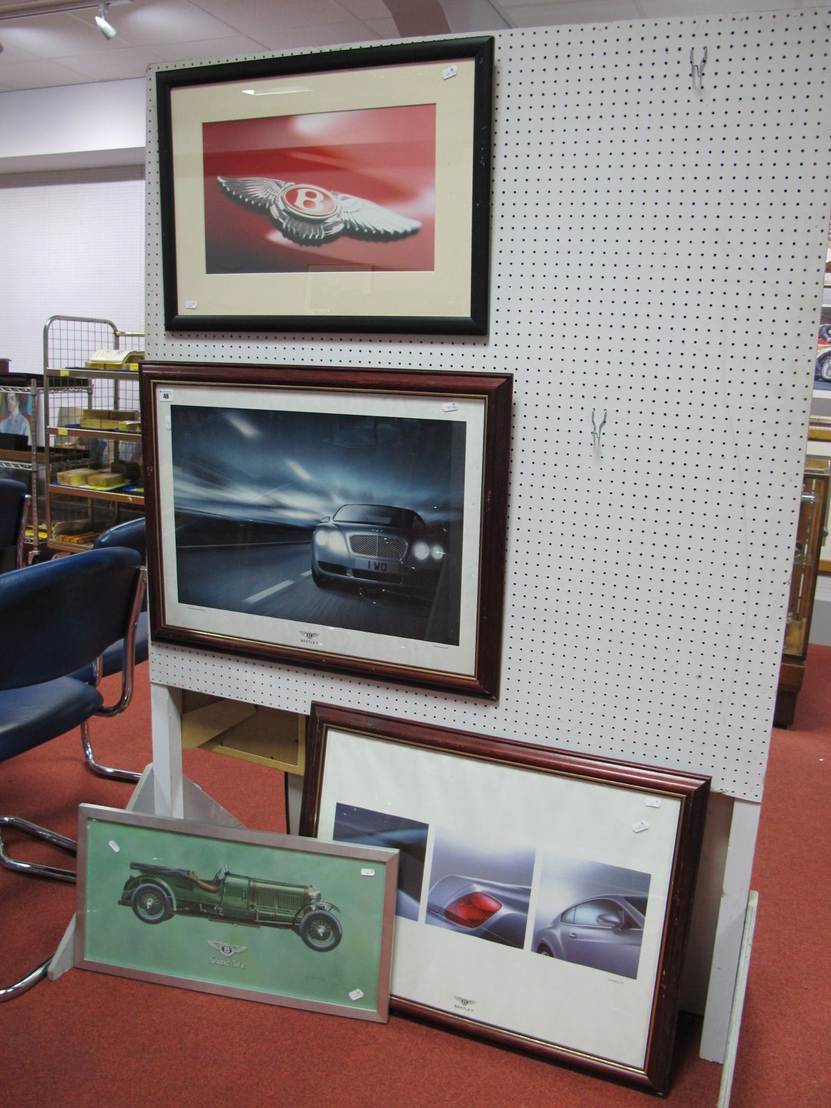 Lot 48 - Four Bentley Related prints, all framed.