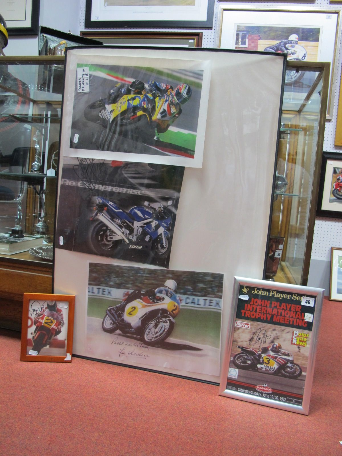 Lot 46 - Five Signed Motorbike Racing Pictures- Wayne Rainey, Kenny Robberts, John McGuiness, Troy Corsa, Jim