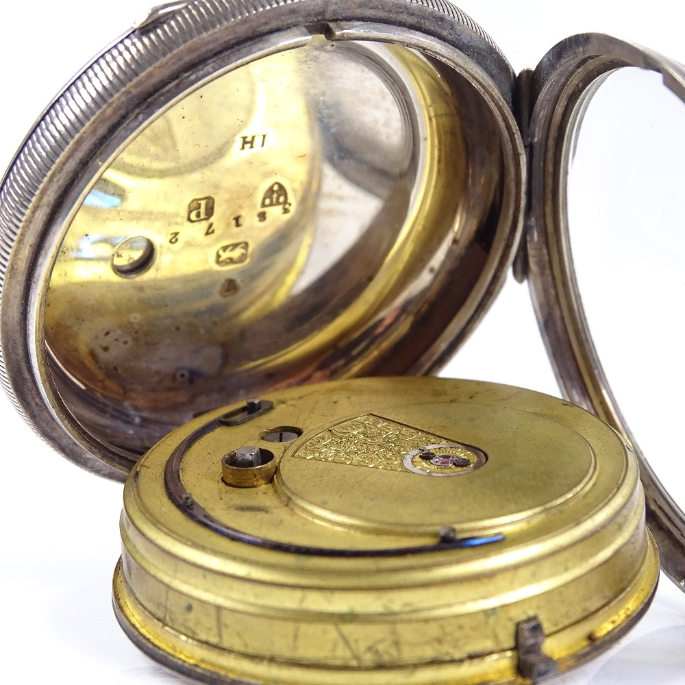 Lot 476 - A 19th century silver-cased open-face key-wind lever fusee pocket watch, by William Frame of