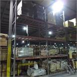 """(2) Section of Pallet Racking containing (3) 18' X 42"""" Legs and (12) 8' Cross Beams"""