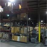 Section of Pallet Racking containing (2) 14' X 4' Legs and (8) 8' Cross Beams