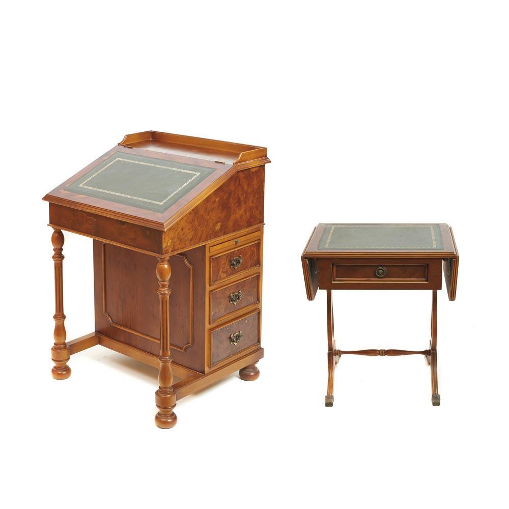 Maple Wood English Style Desk And Table Set Juego De Escritorio  # Muebles Directo Cee
