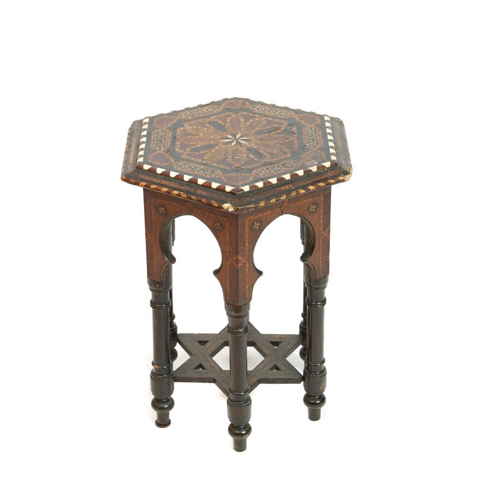Wood Mudejar Style Centre Table Mesa De Centro Dise O Hexagonal  # Muebles Mudejar