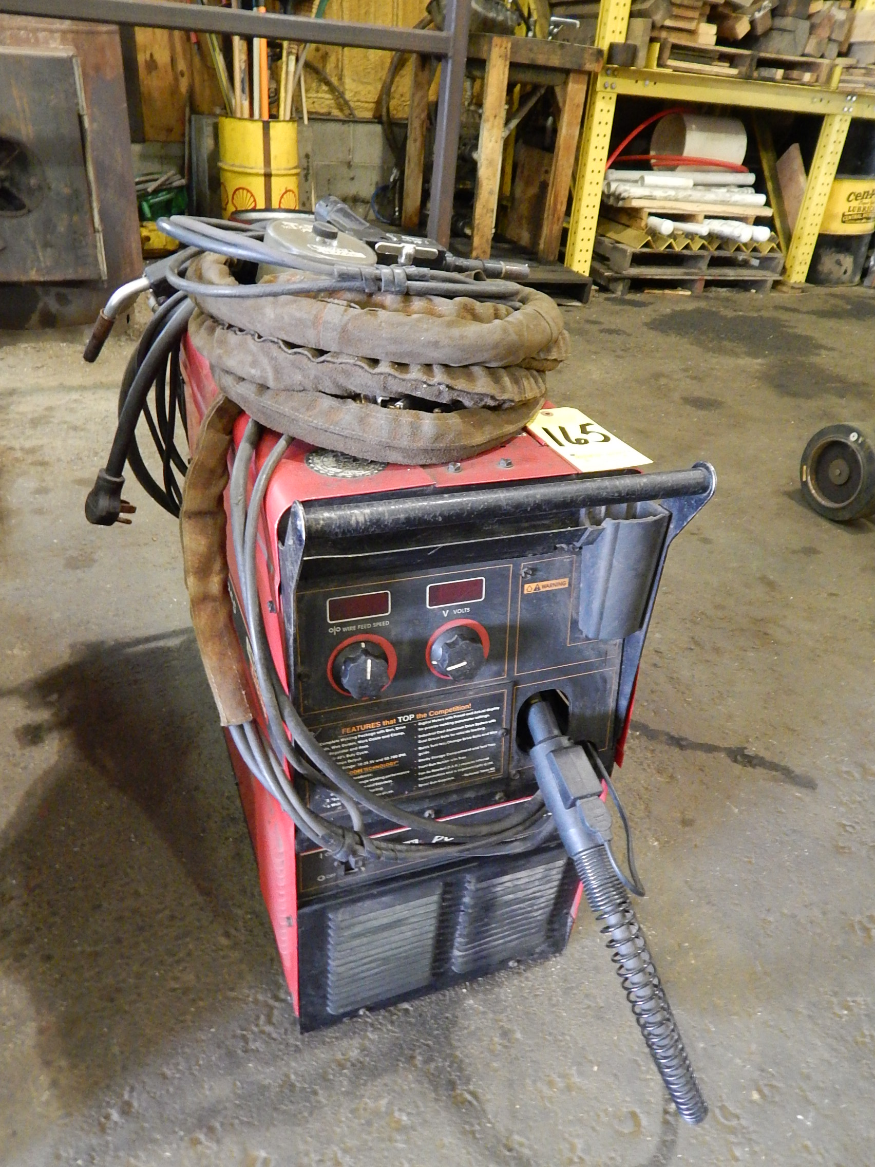 Lincoln Power Mig 255 Mig Welder SN U1000927994, with Lincoln Prince