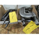 LOT ASST. 2 - ARMSTRONG NO-6 HD 'C' CLAMPS 2 - M-150 CLAMPS (2 BOXES)