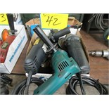 "LOT 3 ASST. MAKITA 1/2"" DRILL, 2 ASST. ANGLE GRINDERS (1 BOX)"