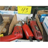 "LOT 3 ASST. MILWAUKEE 1/2"" DRILL, SKIL ANGLE GRINDER, ANGLE DRILL (1 BOX)"
