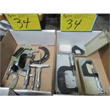 LOT 8 ASST. MK, PAV MICROMETERS, ETC. (2 BOXES)