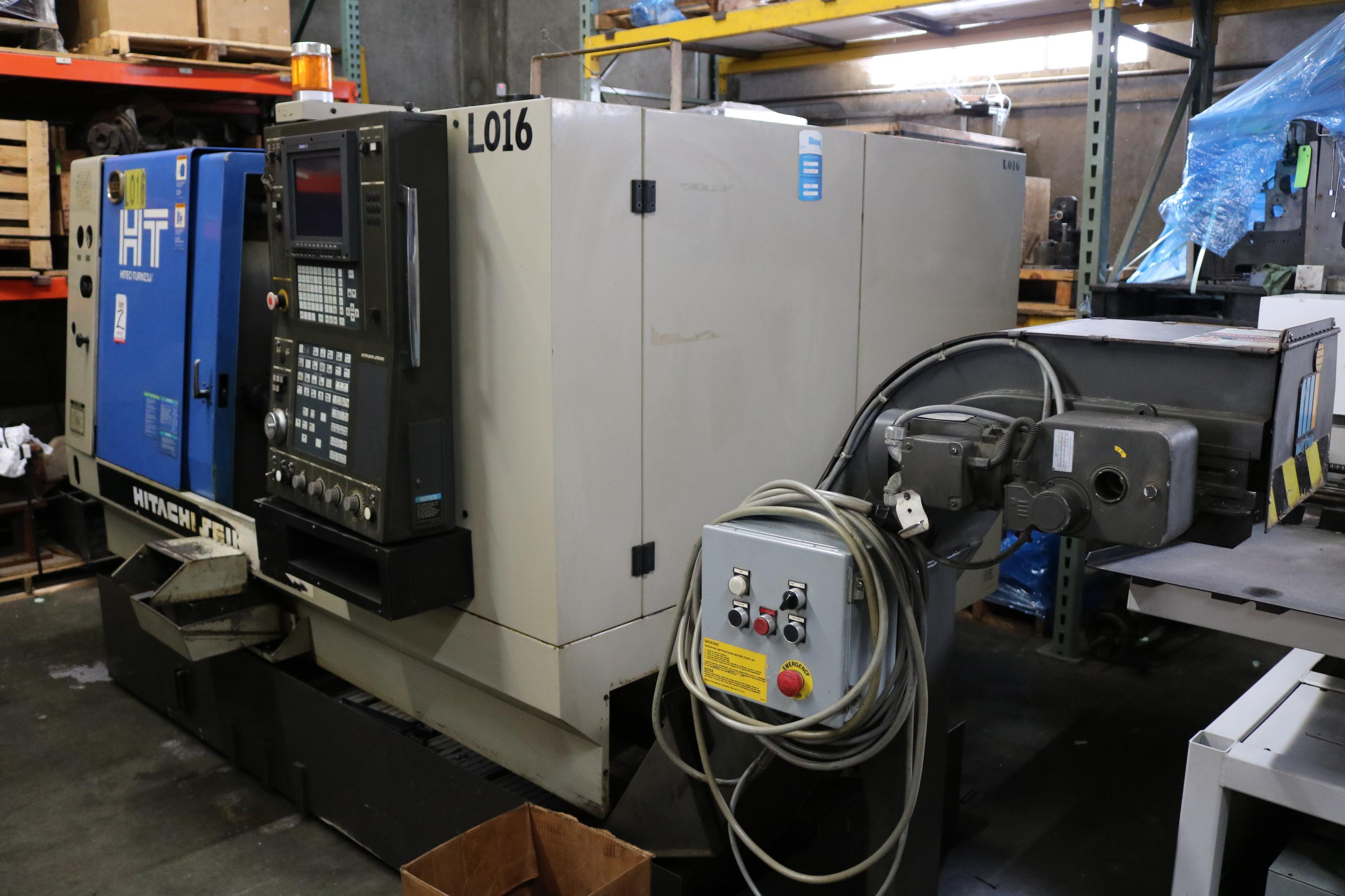 "Lot 2 - 1999 HITACHI SEIKI CNC TURNING CENTER, MODEL HT23J, SEICOS J CNC CONTROL, 8"" CHUCK, 4,500 RPM, 2."