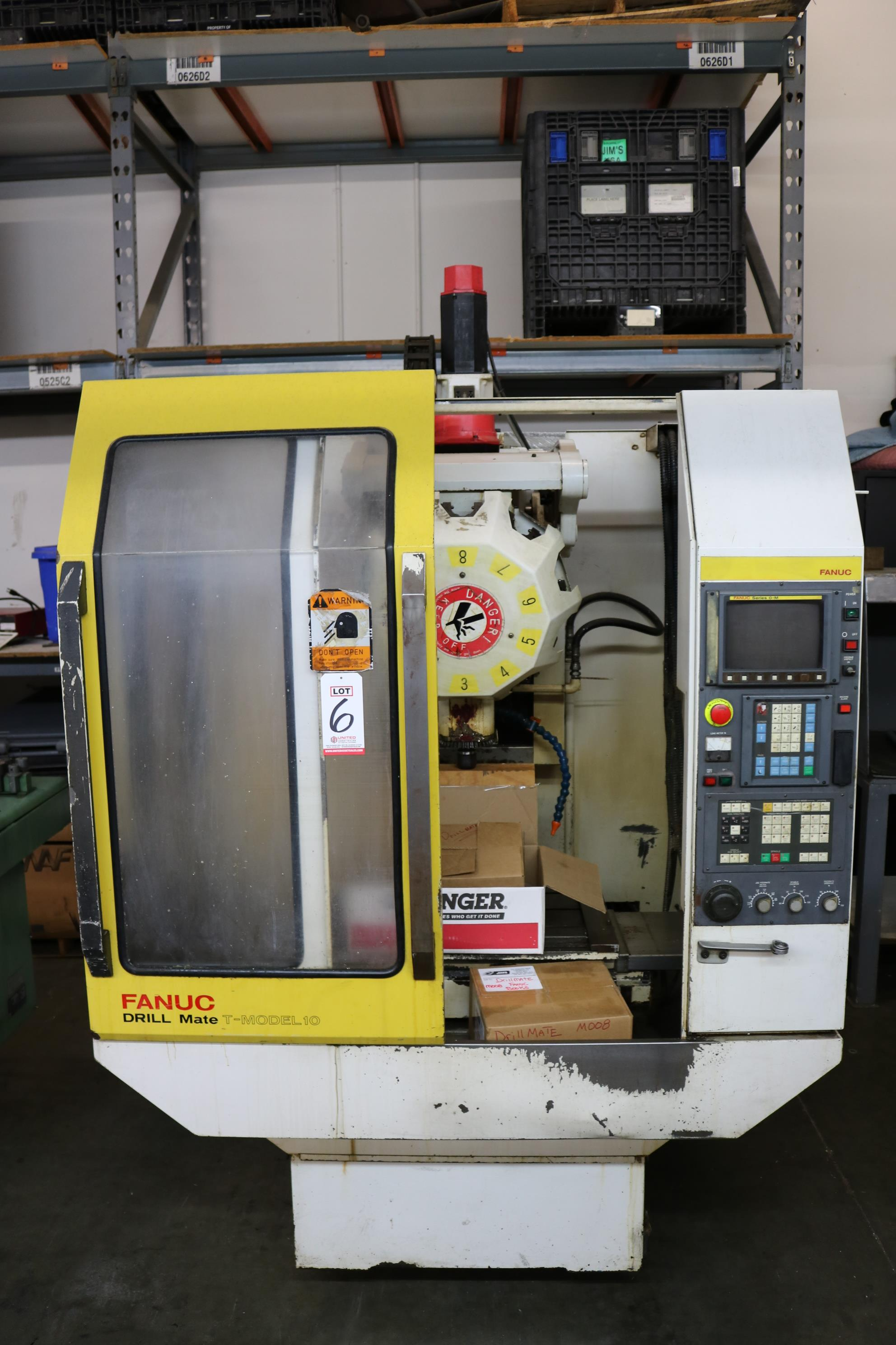 "Lot 6 - FANUC DRILL MATE CNC VERTICAL TAPPING CENTER, MODEL 10, TRAVELS: 19.6"" X 14.9"" X 12.9"", 36"" X 14"""