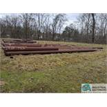 (LOT) LARGE QUANTITY OF STEEL PIPE OUT IN YARD - ONLY THAT MARKED WITH ORANGE PAINT, INCLUDES PIPE